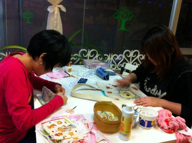 花仙子手作室 - 同學專心上課的情況
